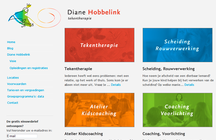 Website Diane Hobbelink Tekentherapie