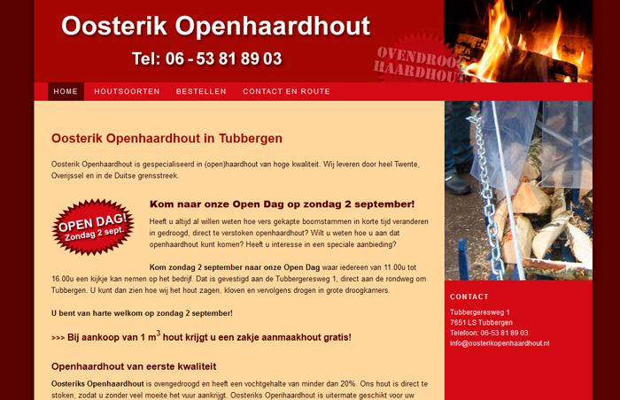Website Oosterik Openhaardhout Tubbergen
