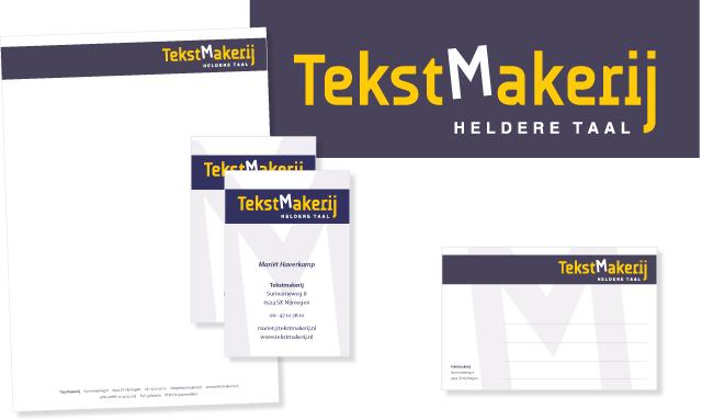 Logo en huisstijl TekstMakerij