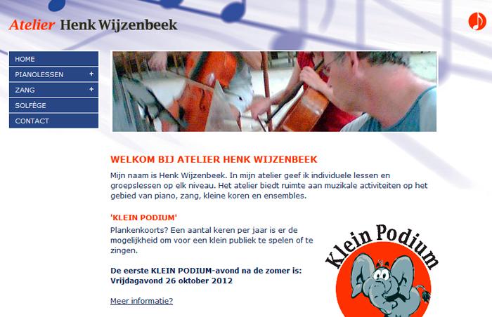 Website Henk Wijzenbeek