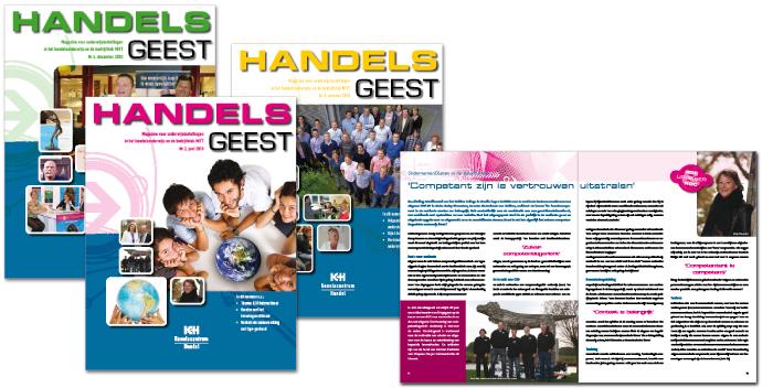 Opmaak magazine HandelsGeest