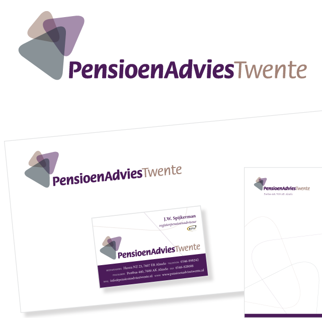 Logo en huisstijl PensioenAdviesTwente